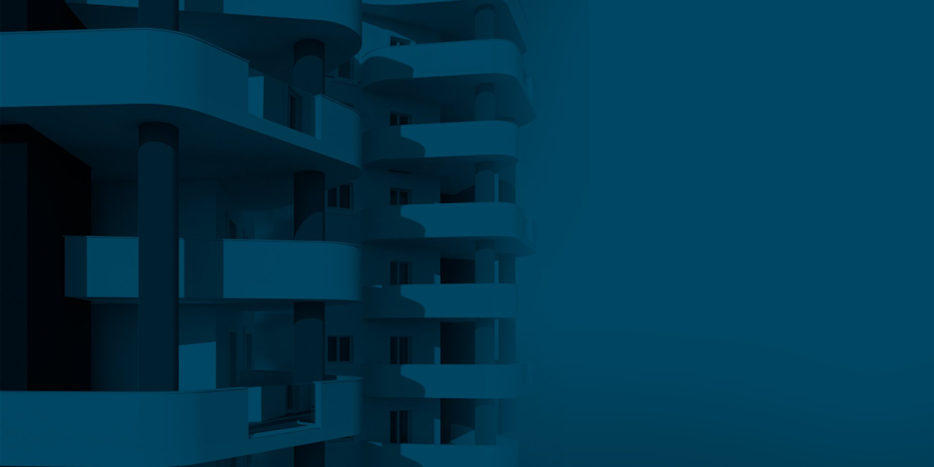 torre altogiardino facciata in blu